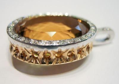 arteoro laboratorio orafo pendente diamanti